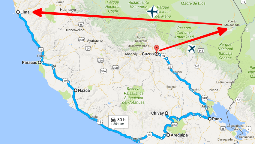 3 peru mapa peru wycieczka
