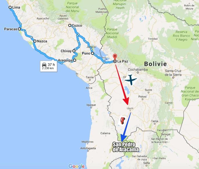 mapa peru boliwia chile